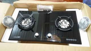 La germania glass hob 2 burner built in kitchen cooktop