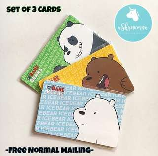 BN Limited Edition We Bare Bears EzLink Card Set of 3