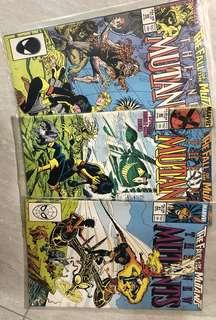 Comics : The New Mutants #59-61 - Fall of Mutants 3 issues