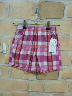 🚚 女童Lativ_格紋短褲_S