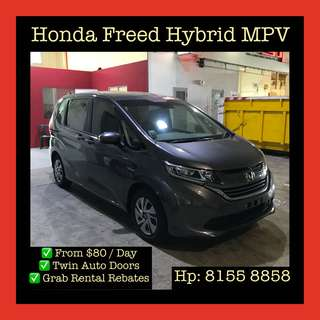 Honda Freed Hybrid - Grab Car Rentals, Uber welcomed