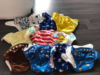Preloved Charlie Banana cloth diapers with inserts