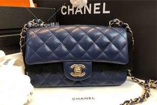 Chanel Mini Coco 20cm 深藍 金扣