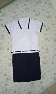 UNIFORM SET 4 blouse 3 skirt 1 pants