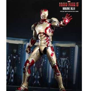 全新啡盒未開封 Hottoys Hot Toys Ironman Iron Man 鐵甲奇俠 Mark 42 Diecast