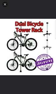 Dual tower bicycle rack