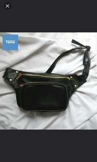 Faux Leather Waist Bag