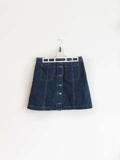 Topshop A-line Denim Skirt