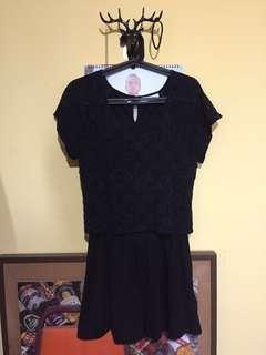 🚚 正品日本Lowry's Farm 超百搭蕾絲黑洋裝 little back dress