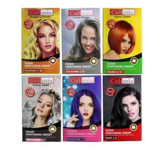 CULTUSIA Hair Color Colour Cream Pewarna Cat Rambut AMMONIA FREE