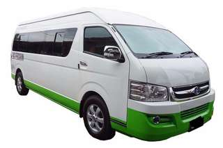 Singapore to Malaysia Overland 16 Seater Van Transport