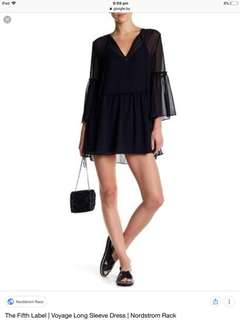 The fifth label voyage long sleeve dress ink NEW black size S FREE POSTAGE