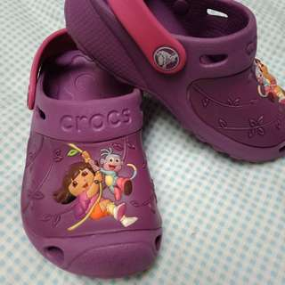 Dora purple crocs