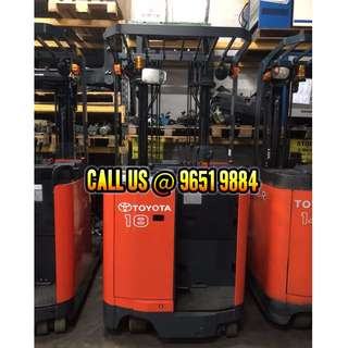 USED / REFURBISHED Electric Reach Truck (High lifting)