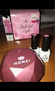 Homei (gel light with nail polish)