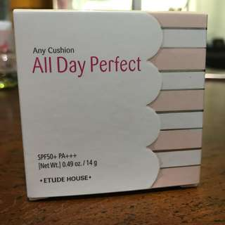 $9.90 Etude House Any Cushion All Day Perfect SPF50+ PA+++ Refil with Puff