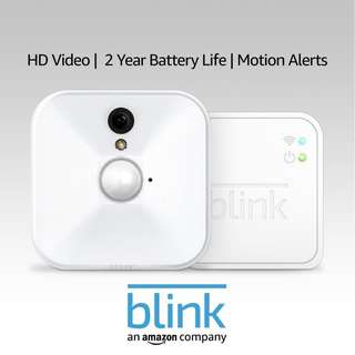 [IN-STOCK] Blink Indoor Home Security Camera System with Motion Detection, HD Video, 2-Year Battery Life and Cloud Storage Included - 1 Camera Kit