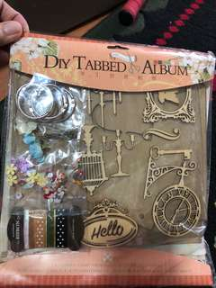 Diy tabbed album scrapbook making