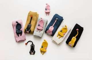Super cute pantyhose (3-5Y) Pink / grey