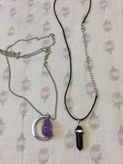 gemstone + choker tumblr necklaces