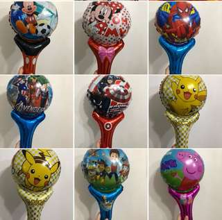 Non helium handheld balloons (self inflate) for children goodies favors