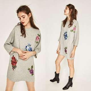 Embroided Shirt Dress
