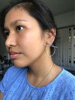 Silver hoop earrings 1