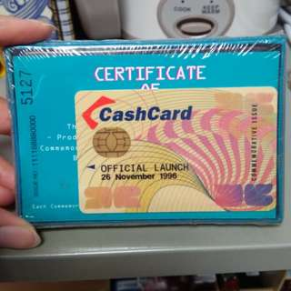 Official launch commemorative cash card