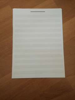 Music score paper liners