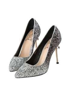 Grace Gift白雪公主漸層碎石跟鞋