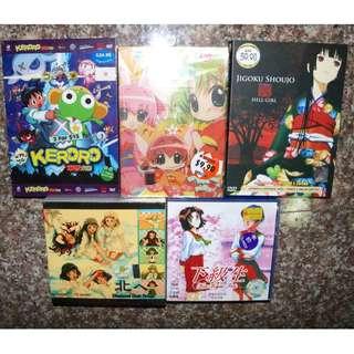 VCD / DVD Anime Bundle : Keroro, Digi Charat, Jigoku Shoujo (Hell Girl), Diamond dew Drops, Kou Kyu Sei