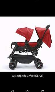 In stock /twins Baby Stroller /twins baby pram /extended style