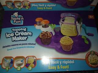Ice Cream maker 5 yo up used once