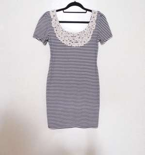 ✨REPRICED✨ Kamiseta Black and White Stripes Low Back Top