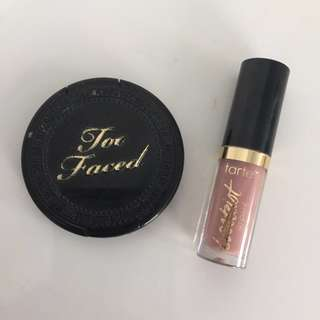 Too Faced Bronzer & Tarte Lip Paint Duo