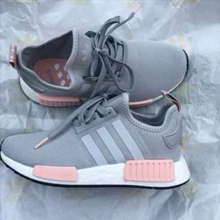 adidas nmd grey and pink