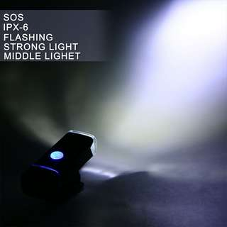 USB Rechargeable Cree Bicycle Front Light 180 lumen USB Rechargeable