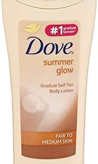 Dove summer glow geadual self tan moisturiser