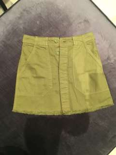H&M Green Khaki Skirt