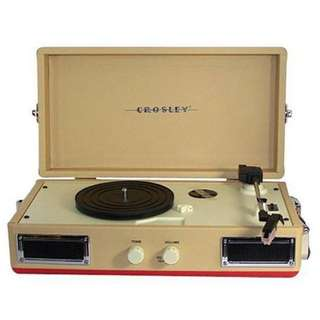 Original Crosley CR40 Portable Turntable Record Player with Built In Speaker