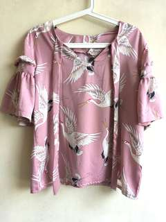 Preloved Blouse Pink