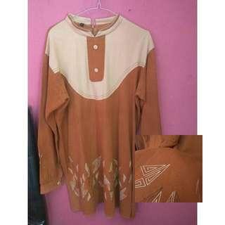 TUNIK DRESS COKLAT MURAH