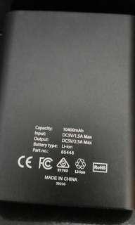 Verbatim尿袋大容量10400mah充電器