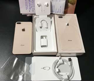 Iphone 8 Plus 64gb Gold 2months old with 10months Remaining Warranty Complete