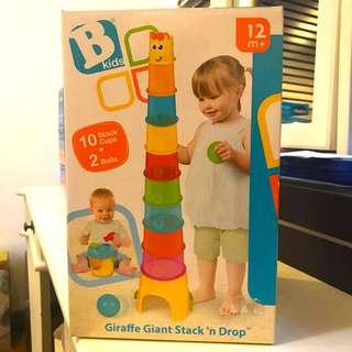 B Kids Giraffe Giant Stack n Drop