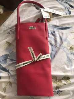 Authentic lacoste bag hot pink long handle