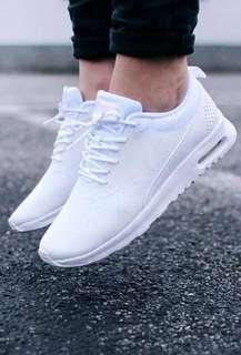 Womans White Nike Air Max Theo Size 7