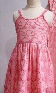 BNEW PINK LACE DRESS 4T