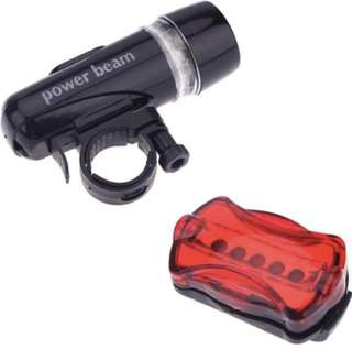 Brand New Set of Front & Rear Bicycle Light