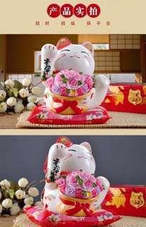 JSGF Bouquet Fortune Cat (Big) 16cm